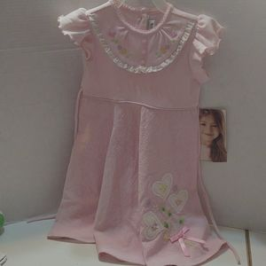 Pink Toddler Dress - Hearts